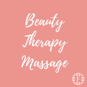 Light Pink Course Title Page for Beauty Therapy Massage at Foundations Nail and Beauty Academy