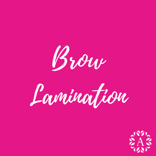 Pink Course Title Page for Brow Lamination Course at Ambitions