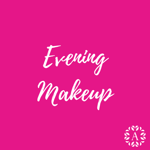 Pink Course Title Page for Evening Makeup Course at Ambitions
