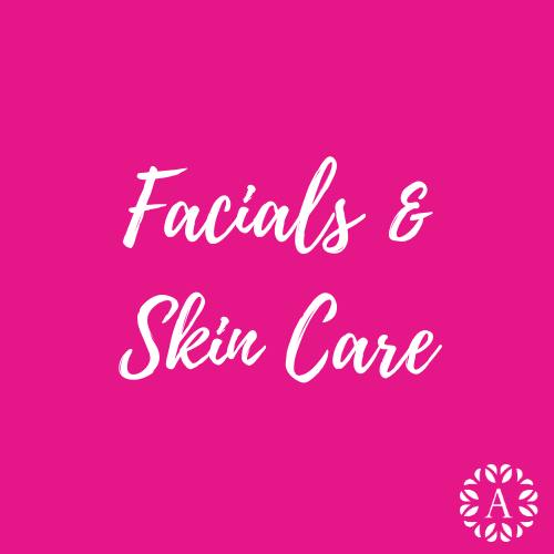 Pink Course Title Page for Facials and Skin Care Course at Ambitions
