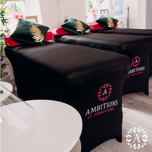 Treatment beds within Ambitions Beauty Academy