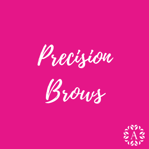 Pink Course Title Page for Precision Brows Course at Ambitions