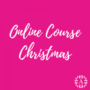Online course header for gel nail art christmas