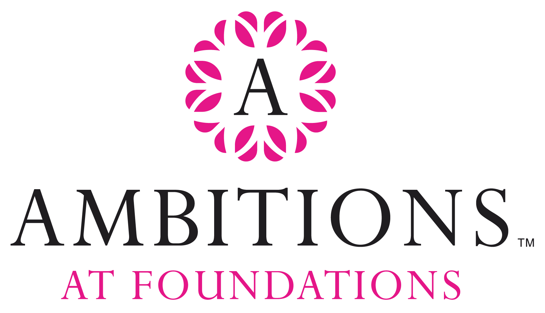 Pink and Black Ambitions at Foundations Logo