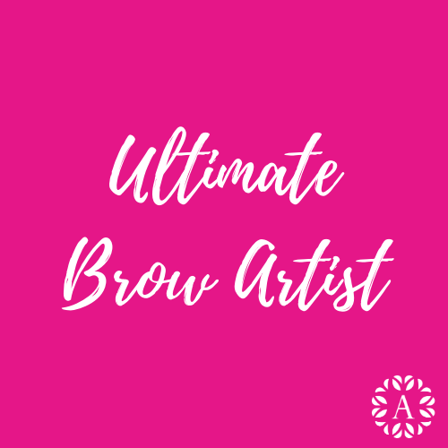 Pink Course Title Page for Ultimate Brow Artist Course at Ambitions