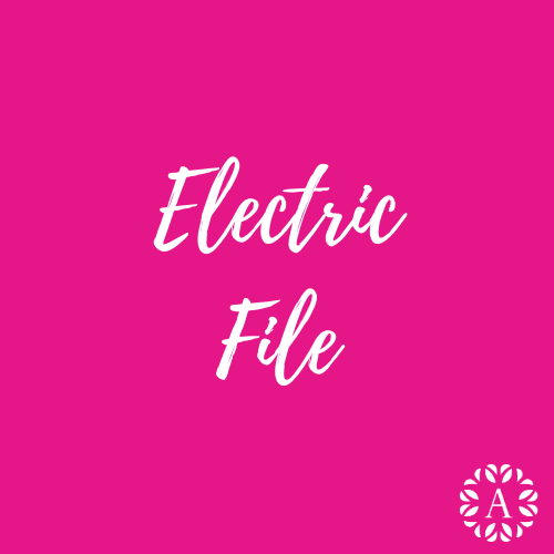 Pink Course Title Page for Electric Nail File Course