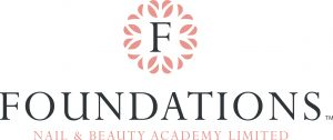 Pale Pink and Black Foundations Nail and Beauty Academy Logo